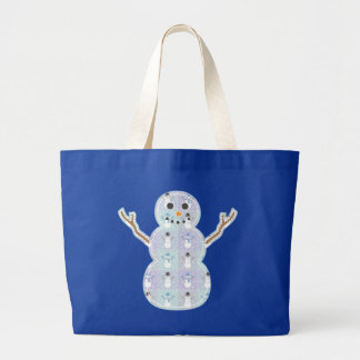 Winter Quilt Tote Bag