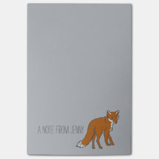 Winter Red Foxes Pattern Post-it® Notes