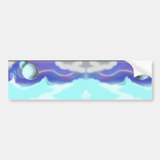 winter refkection bumper sticker