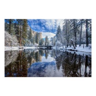 Winter Reflection at Yosemite Perfect Poster