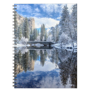 Winter Reflection at Yosemite Spiral Note Book