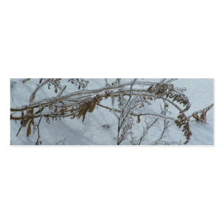 Winter Reflections Bookmark Double-Sided Mini Business Cards (Pack Of 20)
