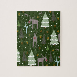 Winter Reindeer Jigsaw Puzzle