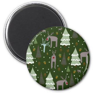 Winter Reindeer Magnet