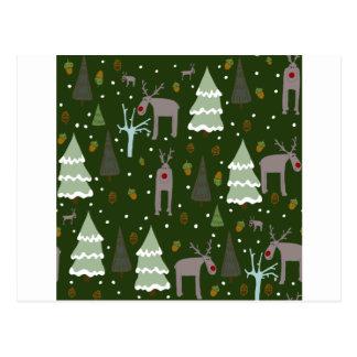 Winter Reindeer Postcard