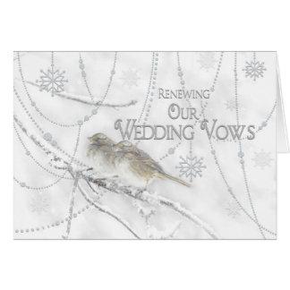 WINTER Renewing Wedding Vows Invitation
