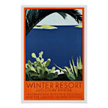 Winter Resort Vintage Travel Poster