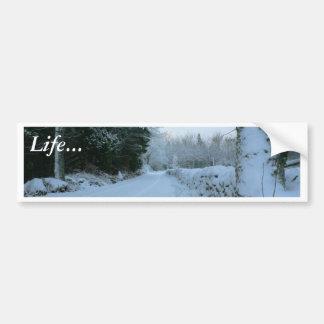 Winter Road Bumper Sticker
