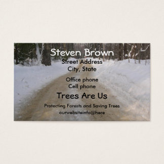Winter Road Business Card