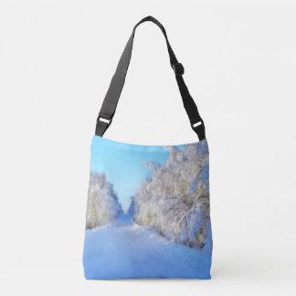 Winter Road Crossbody Bag