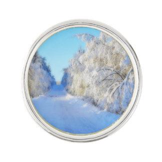 Winter Road Lapel Pin