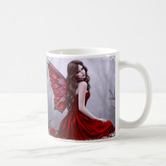 Winter Rose Butterfly Fairy Art Mug