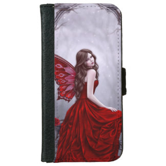 Winter Rose Butterfly Fairy iPhone 6 Wallet Case