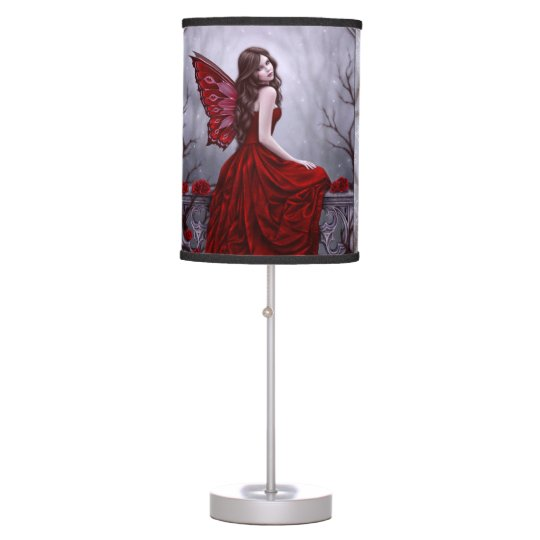 Winter Rose Butterfly Fairy Lamp