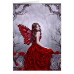 Winter Rose Fairy Art Greeting Card Cards