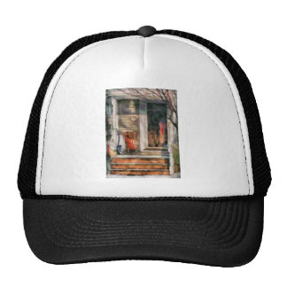 Winter - Rosebud and Shovel - Painted Mesh Hats