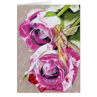 Winter Roses Fairy Fantasy  Greeting Cards