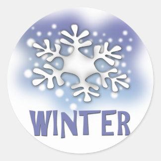 Winter Round Sticker