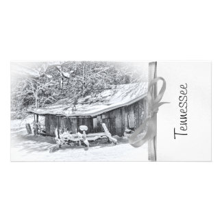 Winter Rural Scene of Barn and Rake - Tennessee Card
