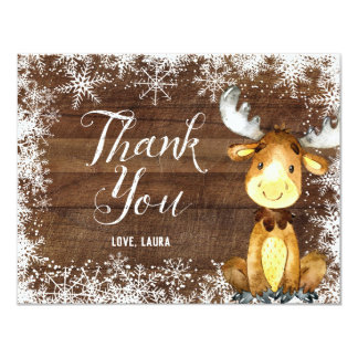 Winter Rustic Woodland Thank You Card