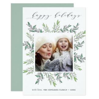 Winter Sage   Holiday Photo Card