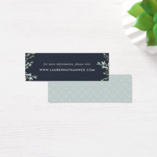 Winter Sage Wedding Website Cards | Mini