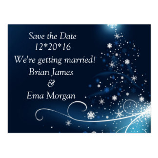 Winter Save the Date Postcard