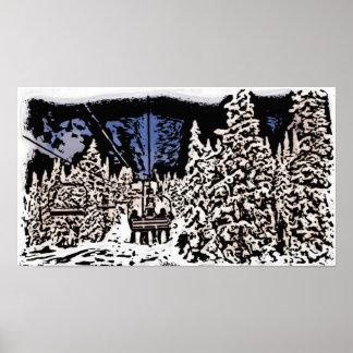 Winter scape poster