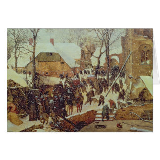 Winter Scene, 16th century Card
