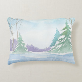 Winter Scene 3, double-sided print Accent Pillow