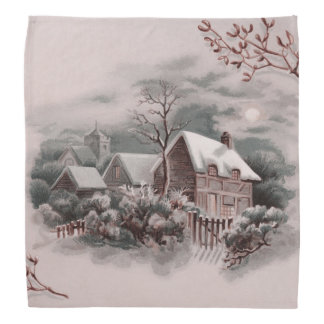 winter scene A Bandana