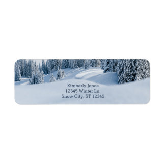 Winter Scene Address Label