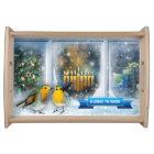 Winter Scene Custom Hanukkah Gift Serving Tray