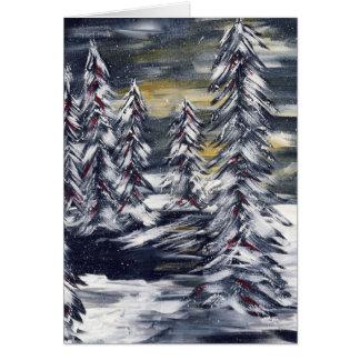 Winter Scene Holiday Greeting Card