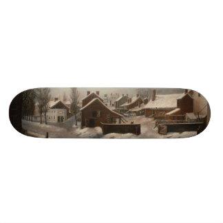 Winter Scene in Brooklyn - Francis Guy Custom Skateboard