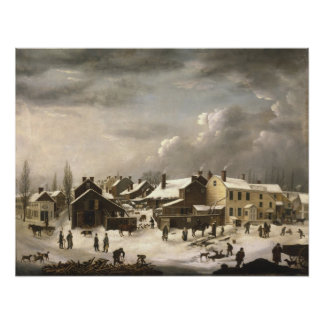 Winter Scene in Brooklyn Poster