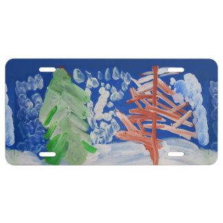 Winter Scene License Plate