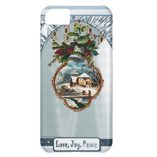 Winter scene, Love Joy Peace iPhone 5C Cases