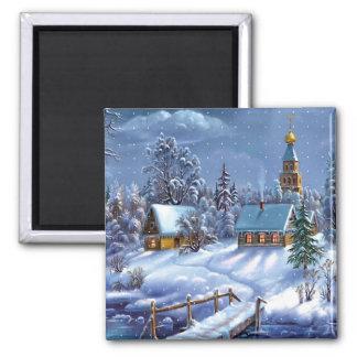 Winter Scene Magnet
