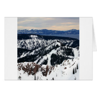 Winter Scene Mountain Peaks Card