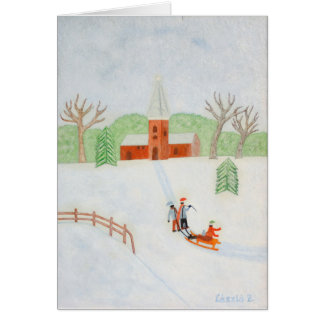 Winter Scene Note Card
