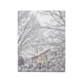 Winter Scene Notepad