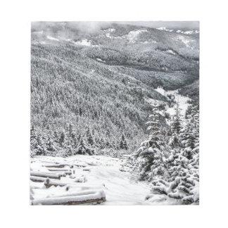 Winter scene notepad