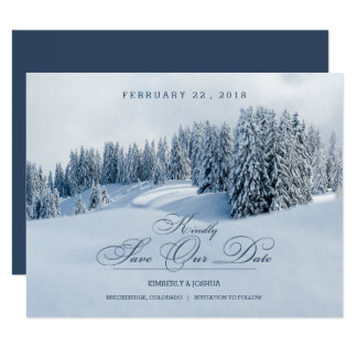 Winter Scene Save the Date Card