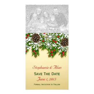 Winter Scene Save The Date PhotoCards Photo Card