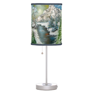 Winter Scene Table or Hanging Lamp