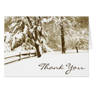 Winter Scene Thank You Card