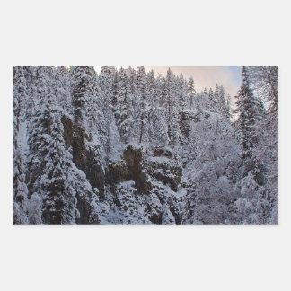 Winter Scene Total Whiteout Sticker