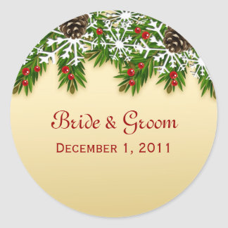 Winter Scene Wedding Stickers