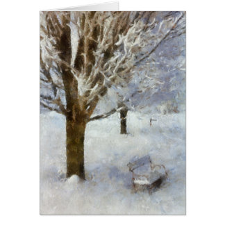 Winter Scene with Bench Card